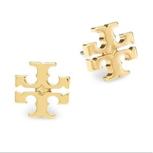 Tory Burch Gold Logo Studs